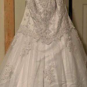 Strapless Beaded Bridal Gown